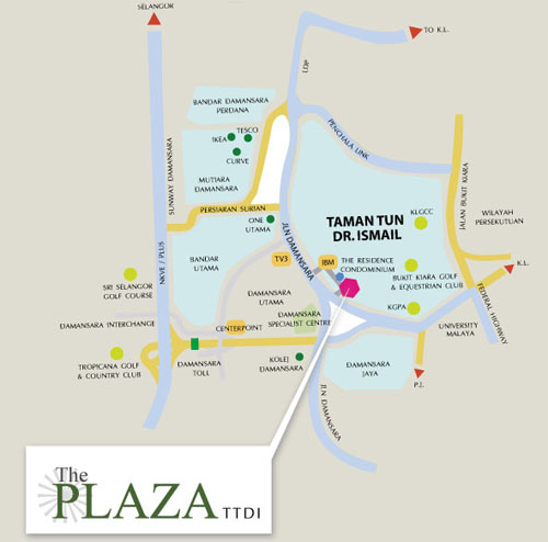 Directions to TTDI Plaza